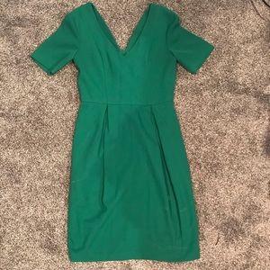 Green formal work dress